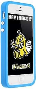 Horny Protectors Bumper für Apple iPhone 4 blau mit Metallbutton
