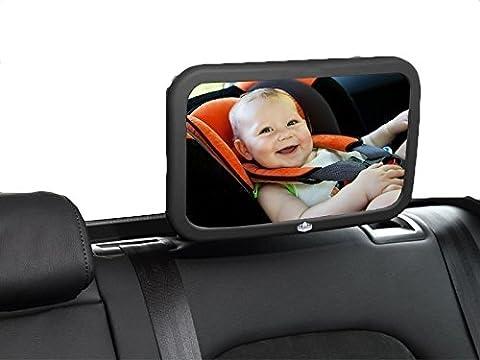 Californie Basics Miroir pour Voiture, Taille XL, face arrière de Vue Large, réglable Siège arrière moniteur de sécurité pour enfant
