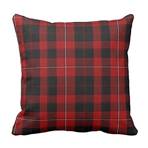 Clan Cunningham Tartan Plaid pillow case cover 18*18 (Cunningham Tartan)