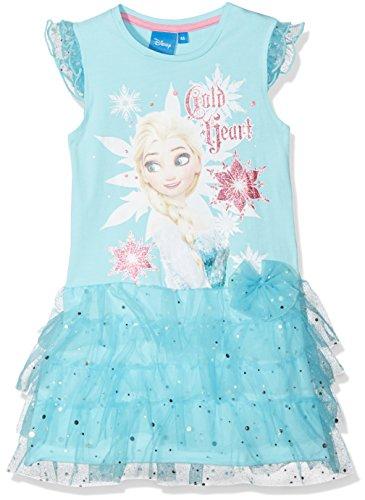 Disney Frozen Mädchen Frozen Snowflake Kleid, Blau (Blue 14-4816TC), 7-8 Jahr