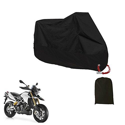 Haosen Impermeable a prueba de polvo Funda para Moto / XXL 245X105X125cm / Anti UV Respirable Protectores para Moto Con bolsa de almacenamiento (Negro)