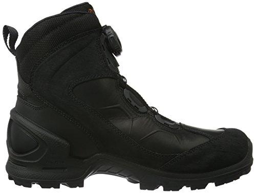 Ecco Biom Terrain, Chaussures de Randonnée Hautes Homme Noir (58692Black/Black/Picante)