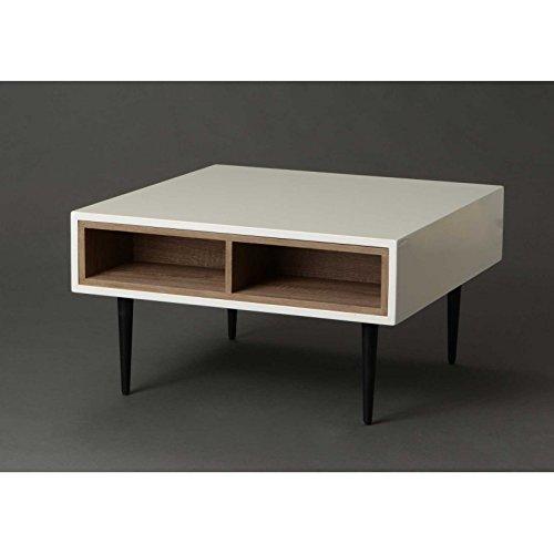 Amadeus - Table basse design laquée bois et blanc Amadeus