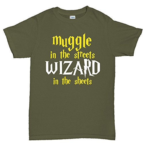Muggle In The Streets Wizard in The Sheets Funny Magic T shirt