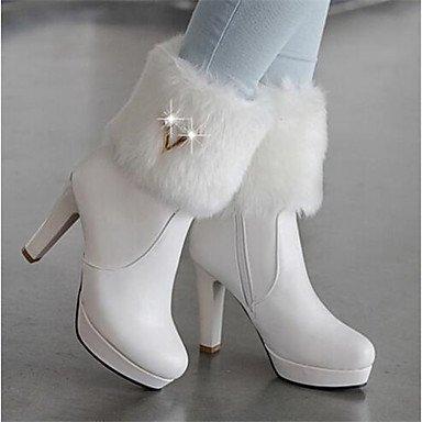 GLL&xuezi Femme Chaussures à Talons Confort Polyuréthane Automne Décontracté Noir Jaune Rouge Bleu 10 à 12 cm , blue , us8 / eu39 / uk6 / cn39