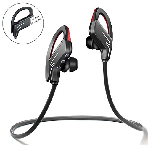 Sound One SP-6 Bluetooth Headphones, Runner Headset Sport HiFi Stereo Sweatproof Earphones with Mic and Earhook - Wireless Earbuds for Running (Black)  available at amazon for Rs.1890