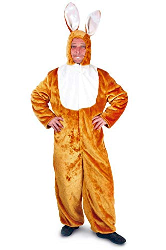 Kostüm Osterhasen Für Erwachsene - Kleidung zum Feiern Hasen-Kostüm | Gr. 48-50, 52-54 Oder 56-58 | Osterhase | Junggesellenabschiede | Braun Weiß (56-58)
