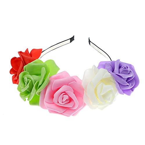 (Oyedens Headband Hairband Foto-Hochzeits-Feiertagsstirnband Der Frischen Blume Des Stirnbandes Rosafarbene Karneval Blonde Perücke)
