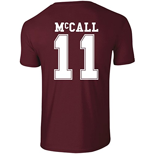 Beacon Hills Lacrosse T-SHIRT Wolf 11 Teen McCall - Large - McCall 11