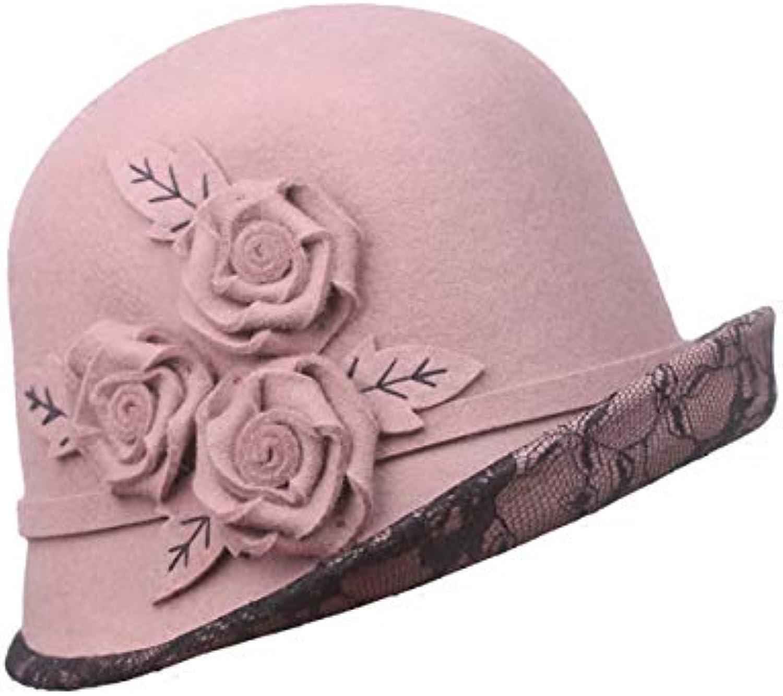 Nosterappou Cupola berretto autunno e cappello inverno fiori berretto  femminile 93fcca4d7d20
