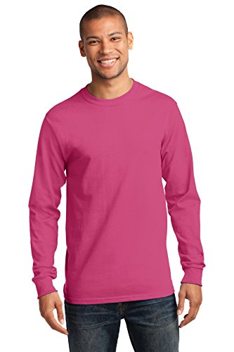 Port & Company Herren ist groß lang Sleeve Essential T Shirt Sangria