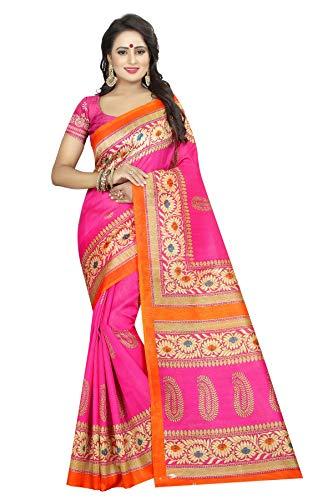 CRAFTSTRIBE Saree Pink Party delle Donne Indiane Vestiti da Matrimonio Etnica Bollywood Design Sari Nuziale