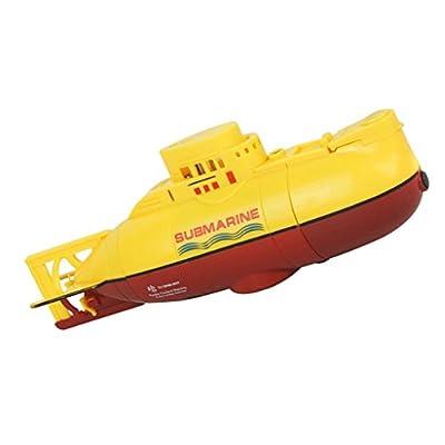 MagiDeal Mini RC Racing Sous-marin Bateau Modèle 3CH Jouet Télécommandé RTR avec Câble USB Cadeau Enfant