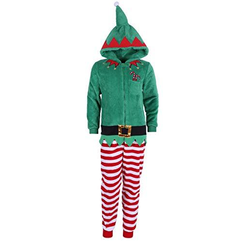 Elfo, Pijama Pieza, Color Verde - 6-7 Años 122 cm