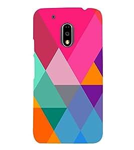 Graphic Color Pattern 3D Hard Polycarbonate Designer Back Case Cover for Motorola Moto G4 Plus :: Moto G4+ :: Moto G4