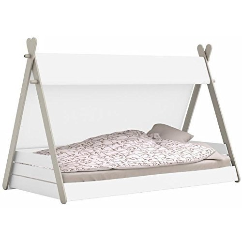 *Kinderbett TIPI mit Lattenrost 90x200cm Jugendbett Bett Indianerzelt 200×90 Zelt*
