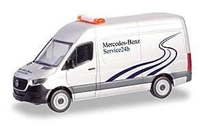 Herpa 094948 Sprinter Kasten HD Mercedes-Benz 24h Service en Miniatura para coleccionar y como Regalo, Multicolor