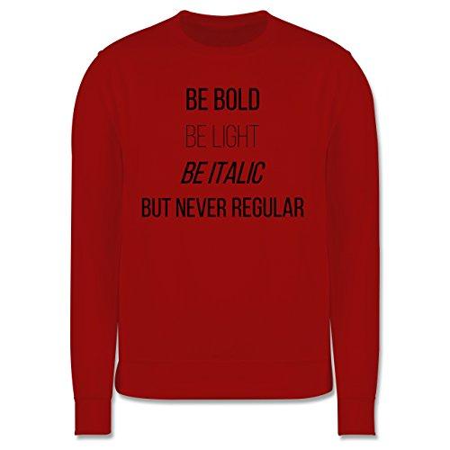 Designer - Never be regular - Herren Premium Pullover Rot