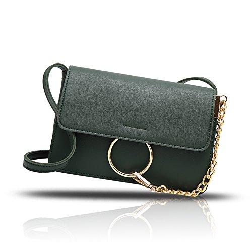 Sunas 2017 estate nuova borsa dell'unità di elaborazione del sacchetto del messaggero della spalla della borsa delle signore verde