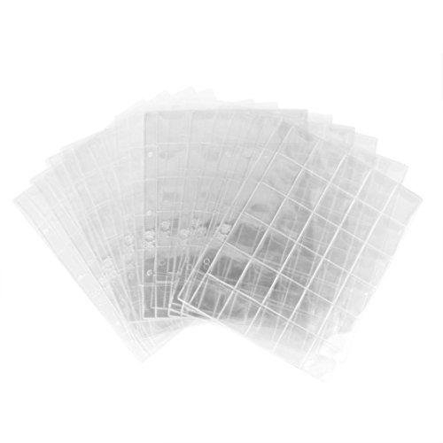 hunpta 300Münzen lose Tabelle Collection Halter Aufbewahrung Geld Penny Pocket Album Ordner farblos - Tür Seite Tabelle