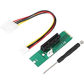KKmoon NGFF(M.2) to PCI-E 1X/4X(64Pin) Expander Adaptor Riser Card for Desktop or Laptop