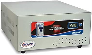 Microtek EML5090 90V-300V Digital Display Voltage Stabilizer (Grey)