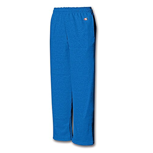 Champion Youth Double Dry Action Fleece Open Bottom Pant Eco Blue S (Bottom Open Pant Fleece)