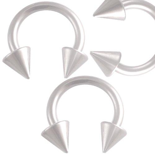 3er set 1,6mm 10mm Stahl Hufeisen Lippen Piercing Augenbrauen ring Ohr Circular Barbell körperschmuck BBYF
