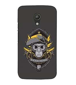 EPICCASE Blackout Monkey Mobile Back Case Cover For Moto G 2nd Gen (Designer Case)