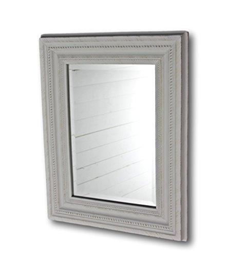 Specchio da parete bianco antico di legno fatta da parete specchio ...