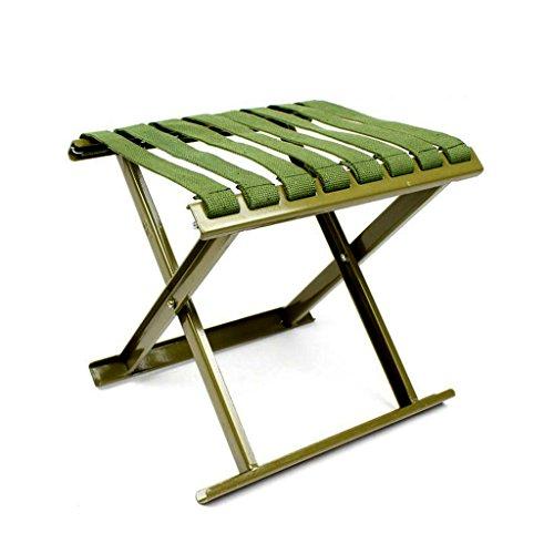 Zheng Hui Shop Hocker Camping Klapphocker verdickt Kohlenstoffstahl Mazar Outdoor-Klapphocker Portable Klapp Angeln Hocker Reisesessel (Color : Green, Size : 32 * 28cm) -