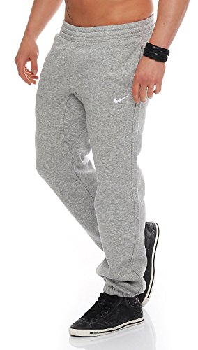 Nike Herren Trainingsanzüge Hosen Mens Fleece Jog Pants Swoosh Club Tracksuit Bottoms Joggers Black, Grey, Navy Sizes S M L XL New 611459 (MarlGrey, L) (Leg Cuff Wide Hose)