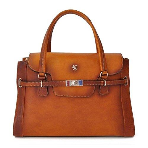 Pratesi Baratti borsa da donna in vera pelle - B305 Bruce (Cognac) Cognac