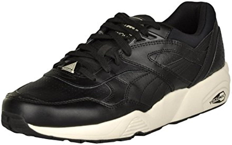 Puma Herren R698 Perf Leather Sneaker Schwarz