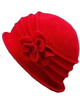 Butterme Inverno Elegante Lana Fiore Femminile Cap Beret Cap Cloche della Benna