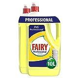 Fairy Professionale Lemon Detersivo Piatti a Mano Liquido, Limone, 10 L, Maxi Formato da 2 x 5000 ml
