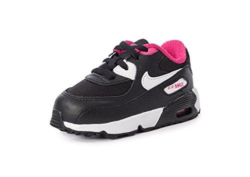 Nike - Air Max 90 Mesh (Td), Scarpe sportive Bimbo 0-24 Nero (Nero / Bianco-Vivid Pink)