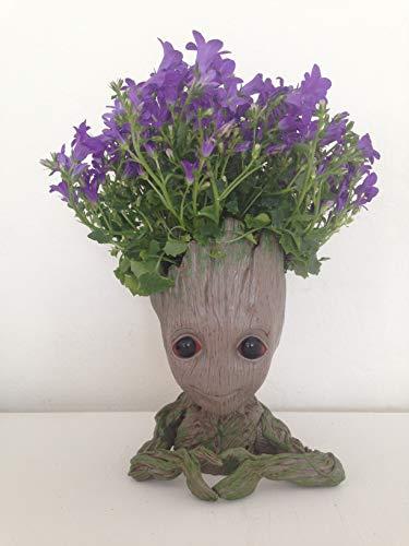 Tuina Bonsai-Schale Baby Groot, Stifte-, Kerzen- oder Make-up-Pinsel-Halter - Behält Farbe bei Sonne, Regen und Schnee - Sehr detailgetreu verarbeitet (Herz-Groot)