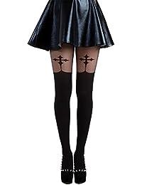 93985564b796a Pamela Mann Goth Cross Suspender Tights black