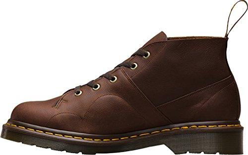 Dr.Martens Mens Chuch Carpathian 5 Eyelet Leather Boots Marron