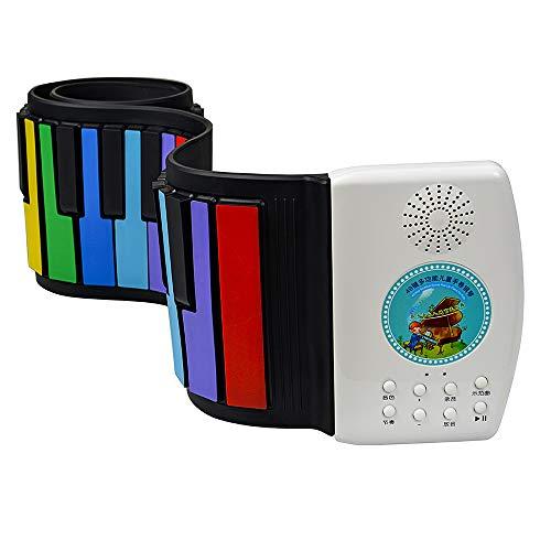 SEXTT 49 Elektronisches Klavier Tragbarer Schlüssellautsprecher-Handrolle, die elektronische weiche Tastatur klappt, Rollen Klavier auf,Color