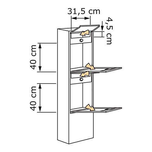 Briefkastenanlage, Design Briefkasten Big Box for Two Schwarz/Edelstahl – Bravios - 4