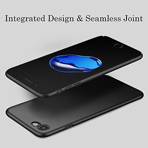 Hülle für iPhone 8 iPhone 7, POOPHUNS Handyhülle für iPhone 7/8, Staubschutz, Stoßdämpfend, Anti-Scratch, Premium Kratzfest PC Case für iPhone 8 iPhone 7(4,7 Zoll) PC Hülle(Schwarz)