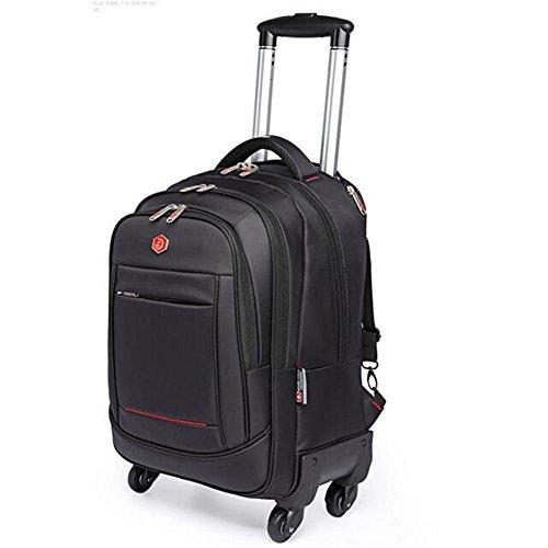 WDGT Trolley-Tasche Geschäft Laptop Rucksack Fliegen genehmigt Leichtgewicht Wasserdicht Reisen 4 Runden Trolley-Tasche -