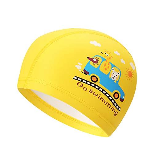 Kairuun 2 Pezzi Bambini Cuffia da Nuoto Stampa del Fumetto Impermeabile PU Cuffia da Nuoto Attrezzatura per Il Nuoto