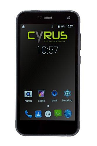 Cyrus CYR10109 Outdoor Smartphone CS28 Hipster, 12,7cm (5Zoll), stoßsicher, staubgeschützt, wasserfest, 3GB RAM, 32GB Rom, 13MP Kamera, schwarz