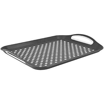 New NON SLIP SERVING TRAY Anti Slip Surface Grip Rubber Food Tray Bar Dinner UK✔
