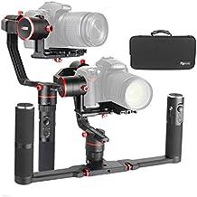 Feiyu a2000 Dual Hand Grip Kit 3 ejes Gimbal Estabilizador para cámara DSLR / cámara sin espejo, compatible con cámaras de la serie NIKON/SONY/CANON entre 250 g -2000 g para Sony A7RII A7R A5100 NEX-5N NEX-7 Panasonic GH4 GH5 Canon 5D Mark III