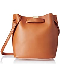 Lino Perros Women's Handbag (Tan And Pink)
