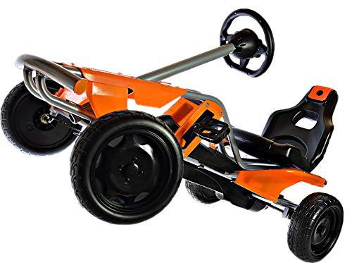 ToyZone Kinderfahrzeug Tretfahrzeug Pedal GoKart Tretauto Card Gokart Eva-Reifen